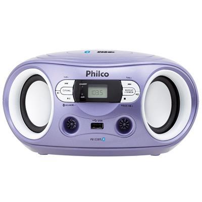 Rádio Philco PB122BTL Bluetooth USB MP3 FM Entrada Auxiliar