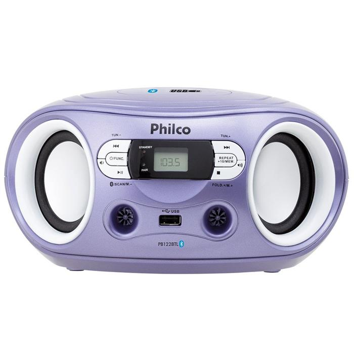 Rádio Philco PB122BTL Bluetooth USB MP3 FM Entrada Auxiliar