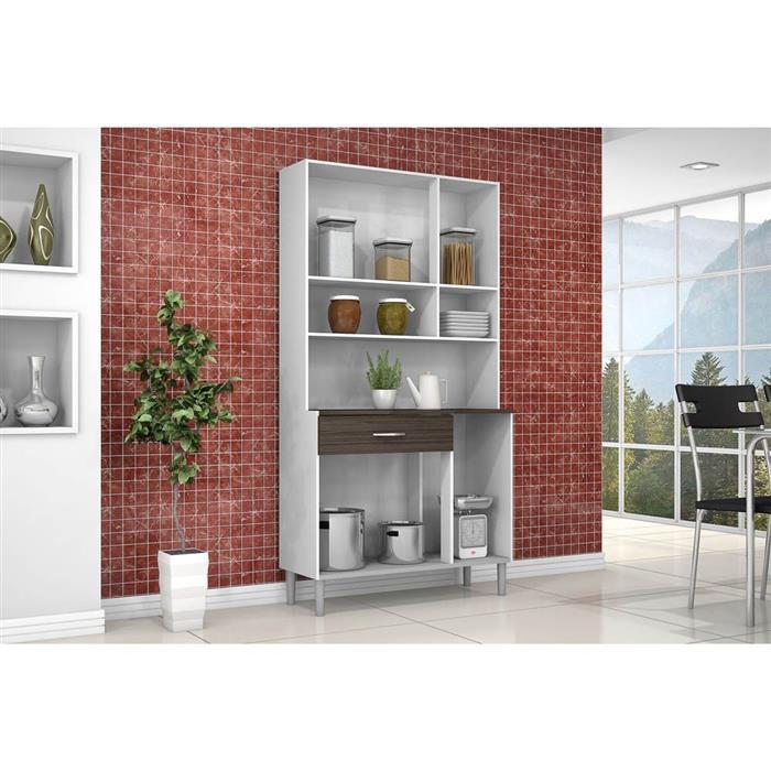 Cozinha Compacta Kits Paraná Golden 6 Portas 1 Gaveta