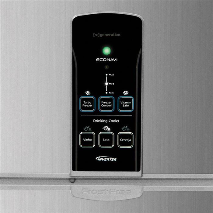 Refrigerador Panasonic Regeneration NR-BT49PV2XA Duplex Inverter 435 Litros Frost Free