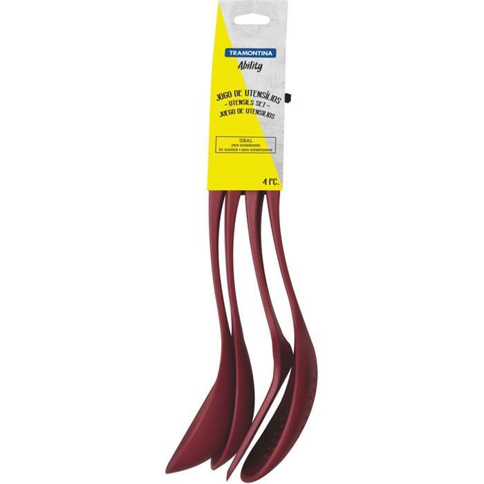 Kit utensílios Tramontina Ability 25199701 4 Peças Nylon