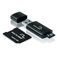 Kit Multilaser MC058 com Adaptador SD + Cartão de Memória 8GB + Leitor de Cartão