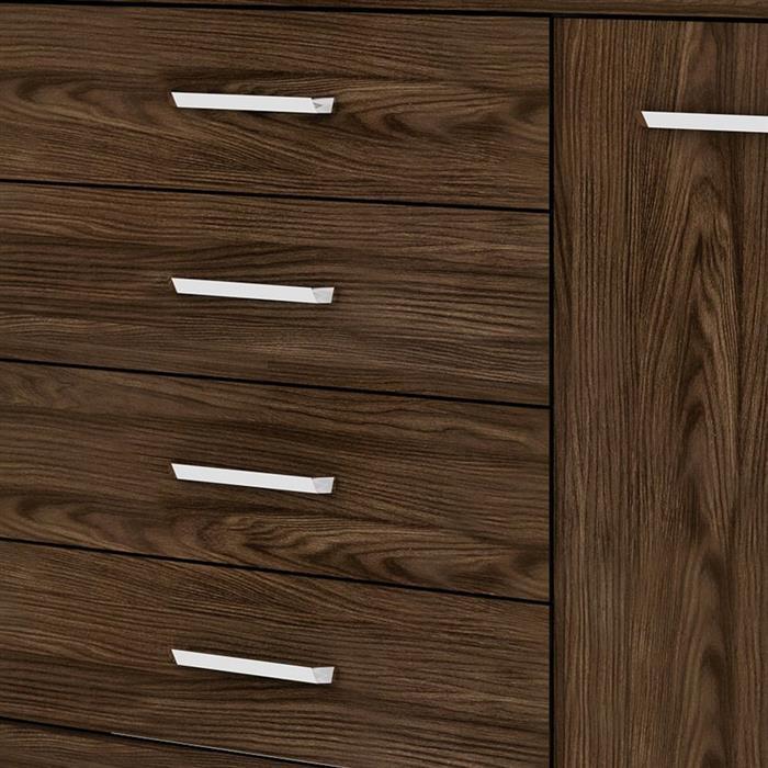 Cômoda Henn Magno D708 1 Porta 4 Gavetas 101x126x51cm