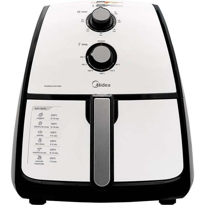 Fritadeira Elétrica Midea Liva 1500W 4 Litros sem Óleo