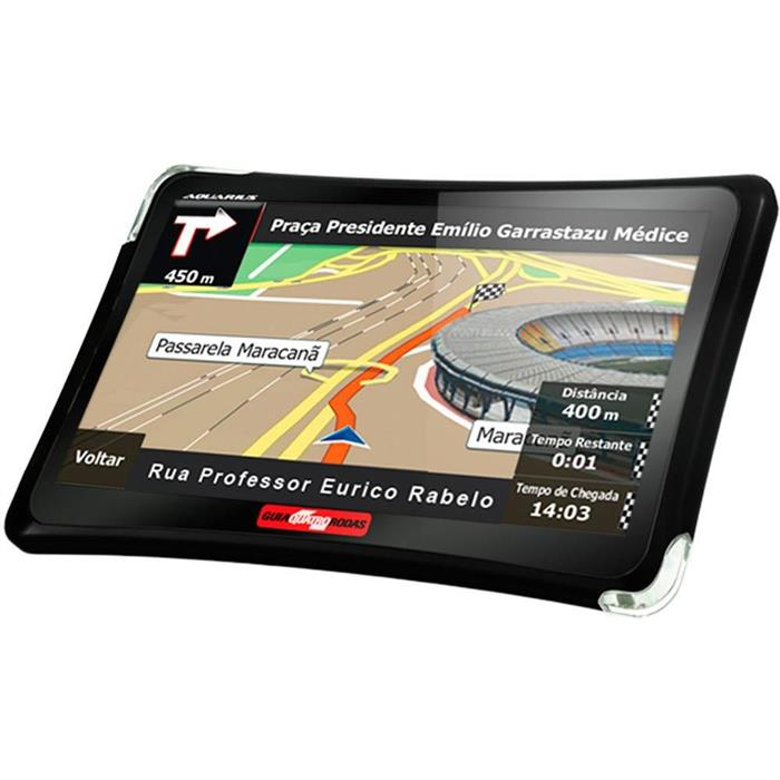 "GPS Guia Quatro Rodas 4.3"" Slim MTC4310 Windows MP4 Touch Screen"