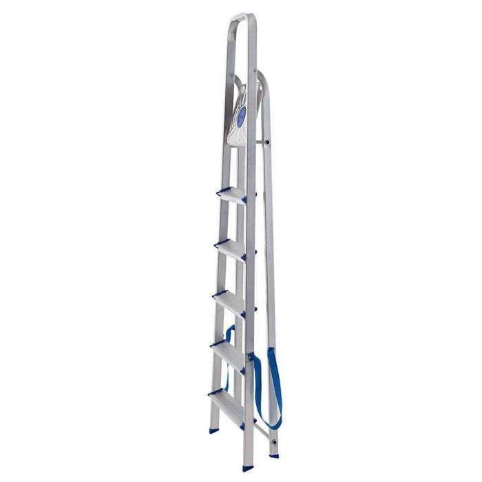 Escada Mor 5104 6 Degraus Alumínio Capacidade 120Kg