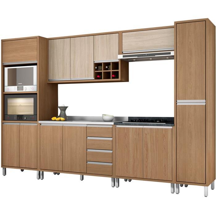 Cozinha Completa Belaflex MDP 13 Portas 3 Gavetas 6 Peças