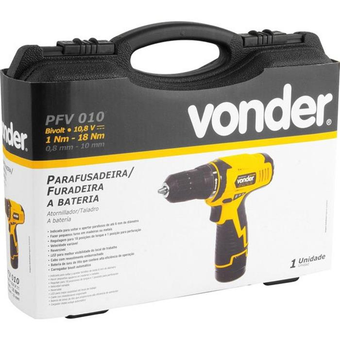 Parafusadeira e Furadeira Vonder PFV010 10.8V Bivolt