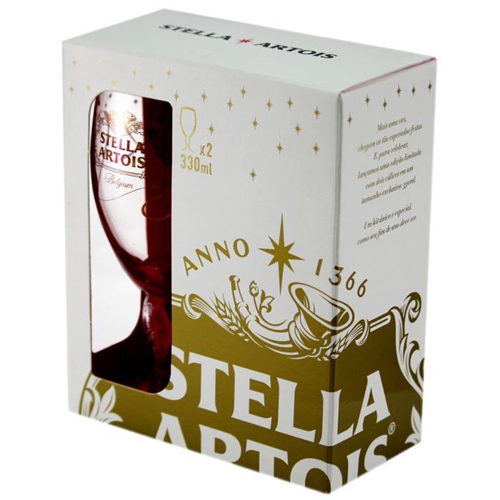 Jogo de Copos Stella Artois 330ml 2 Peças