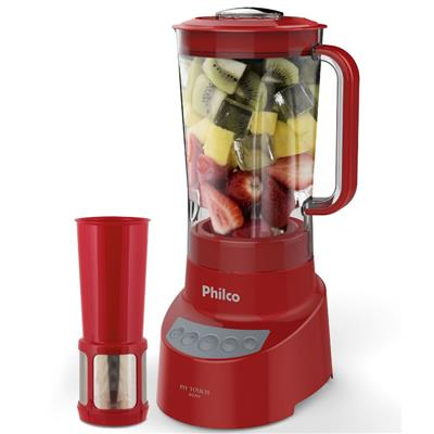 Liquidificador Philco PH Touch 3 Velocidades + Pulsar 2,7 Litros 800W