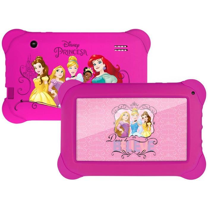 "Tablet Multilaser Princesas NB239 8GB Android 4.4 Tela 7"" 512MB RAM Wi-fi"