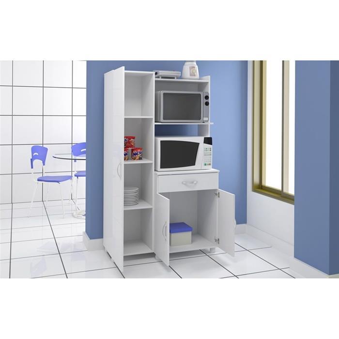 Armário Multimóveis 4080 Forno Microondas 3 Portas 1 Gaveta