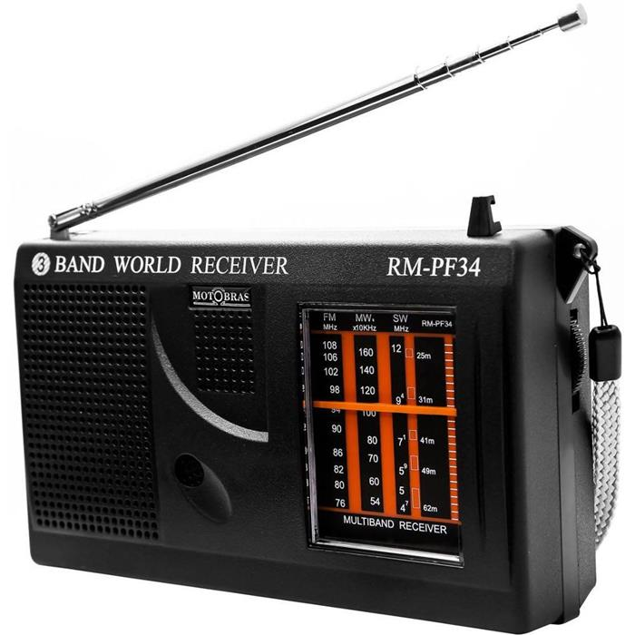 Rádio Motobrás RM-PF34 3 Faixas AM FM