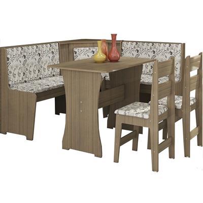 Conjunto Canção Canto Alemão com Mesa e 2 Cadeiras MDF 4 Lugares