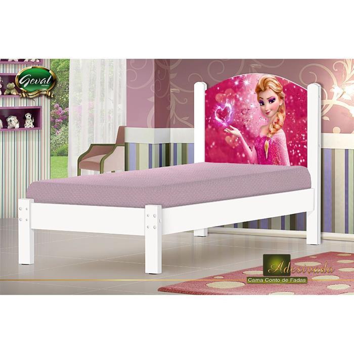 Cama Solteiro Geval Princesa G140 MDF