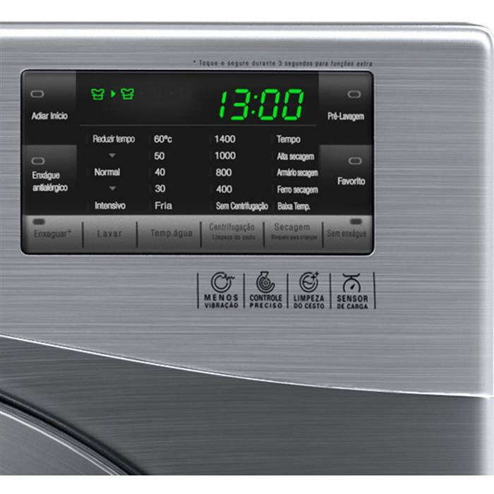 Lava e Seca LG Big Door WD1412RT7 10,2KG Painel Touch