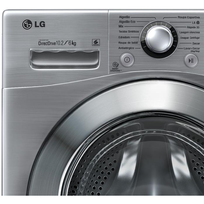 Lava e Seca LG WD1412RT7 10,2KG Painel Touch