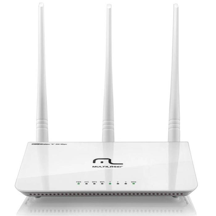 Roteador Wireless Multilaser RE163 300 Mbps 3 Antenas