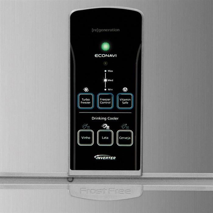 Refrigerador Panasonic NR-BT54PV1XA Duplex 483 Litros Frost Free