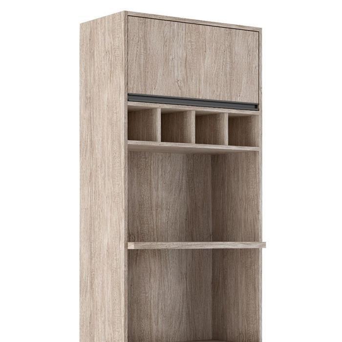 Paneleiro Torre Quente Móveis Sul 4663 Ibiza para 2 Fornos Perola