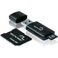 Kit Multilaser MC113 com Adaptador SD + Cartão de Memória 32GB + Leitor de Cartão