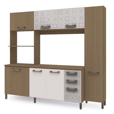 Cozinha Compacta Kappesberg Sense E780 7 Portas 3 Gavetas