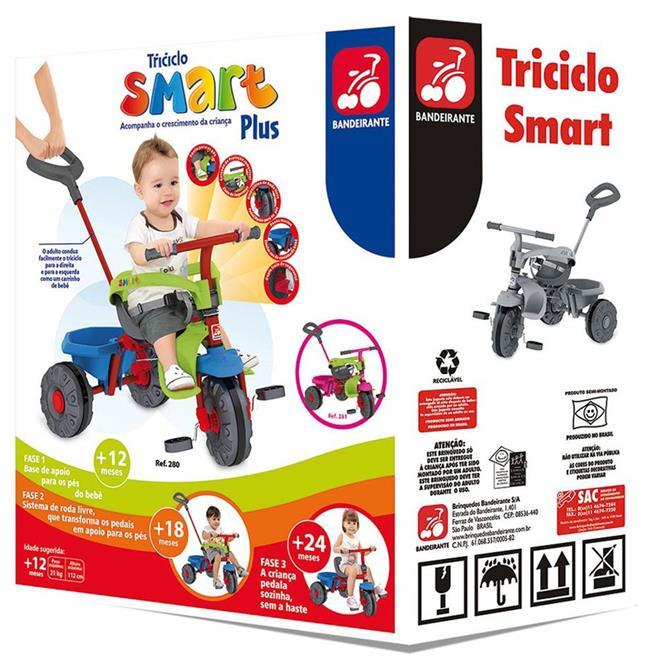 Triciclo Bandeirante Smart Plus 280