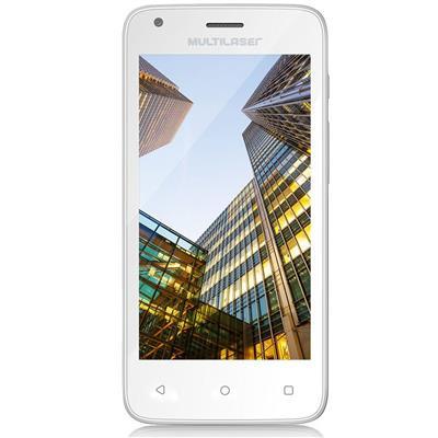 "Smartphone Multilaser MS45 Dualchip Quadcore 8GB 4,5"" 3G Câmera 5MP 1GB RAM"