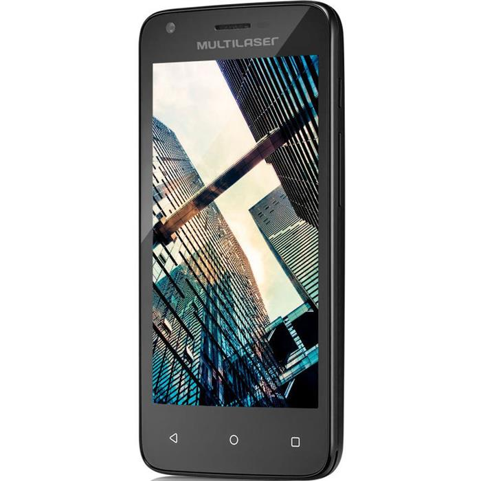 "Smartphone Multilaser MS45 Dualchip Quadcore 8GB 4,5"" 3G Câmera 5MP 1GB RAM"
