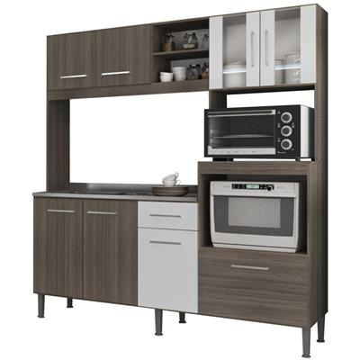 Cozinha Compacta GenialFlex Helena 1 Gaveta 8 Portas com Vidro