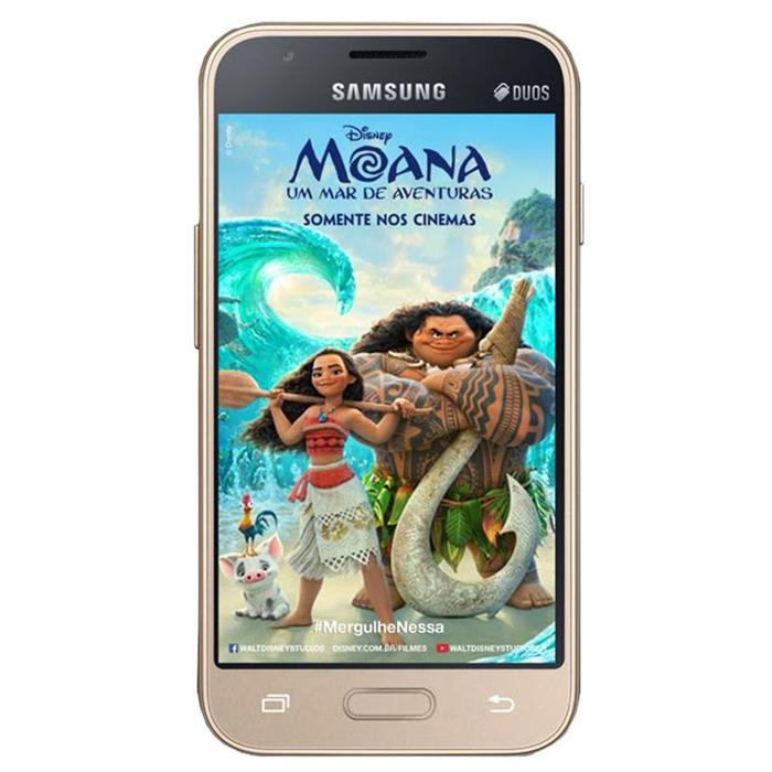 "Smartphone Samsung Galaxy J1 Mini Moana Duos 8GB Dual Chip Quadcore 4"" Câmera 5MP 4G"