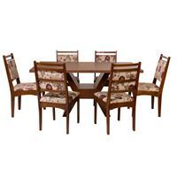 Conjunto Delazari Mesa 901 com 6 Cadeiras 628