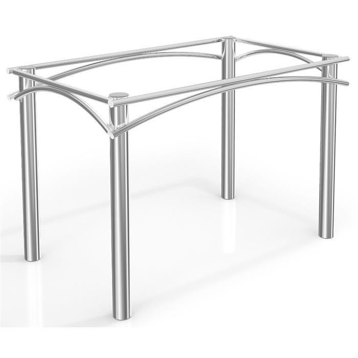 Conjunto Kappesberg Mesa CMC230 com Tampo de Vidro com 6 Cadeiras C009CR