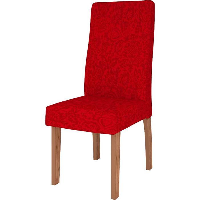 Conjunto Celta Mesa Pérola MDF com Vidro com 6 Cadeiras Valência MDF