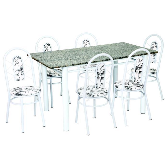 Conjunto Fil Mesa Juliana com 6 Cadeiras Juliana