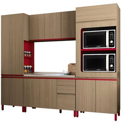 Cozinha Completa Kappesberg New Urban MDP 10 Portas 3 Gavetas 4 Peças