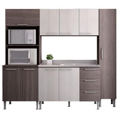 Cozinha Completa GenialFlex MDP 9 Portas 3 Gavetas 4 Peças