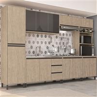 Cozinha Completa  Móveis Sul Ibiza MDF 13 Portas 3 Gavetas 6 Peças
