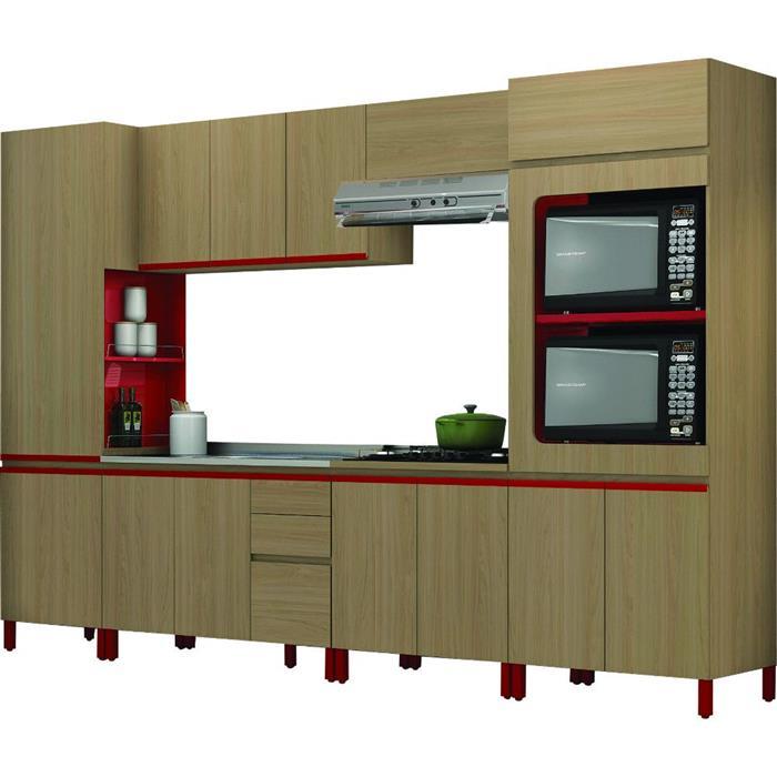Cozinha Completa Kappesberg New Urban MDP 13 Portas 3 Gavetas 6 Peças