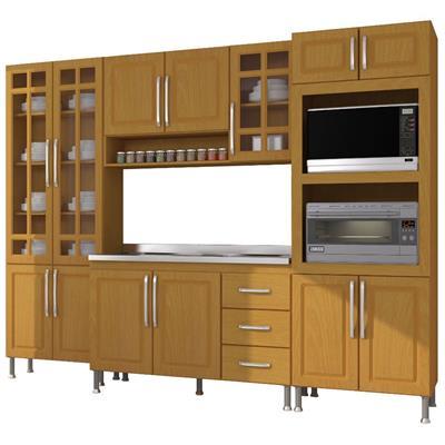Cozinha Completa Indekes Jade Nova 13 Portas 3 Gavetas 4 Peças