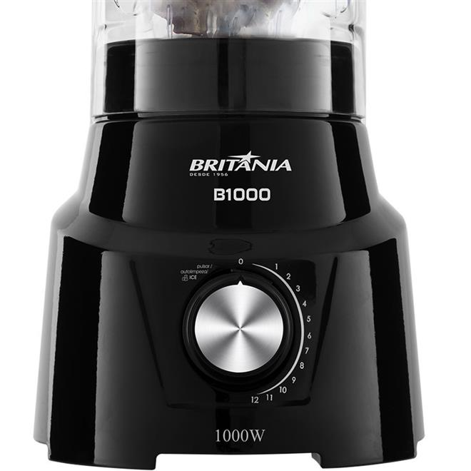 Liquidificador Britânia B1000 1000W 12 Velocidades + Pulsar 3 Litros