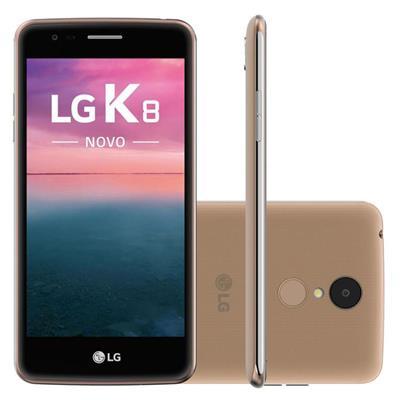 """Smartphone LG K8 Novo Dual Chip Quadcore 4G 16GB Tela 5"""" Câm 13MP + Frontal 5MP"""