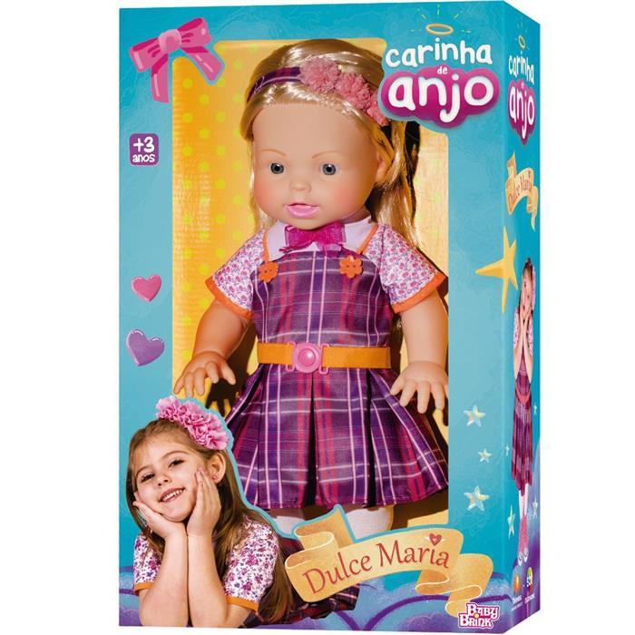Boneca Baby Brink Carinha de Anjo Dulce Maria 1839 42cm