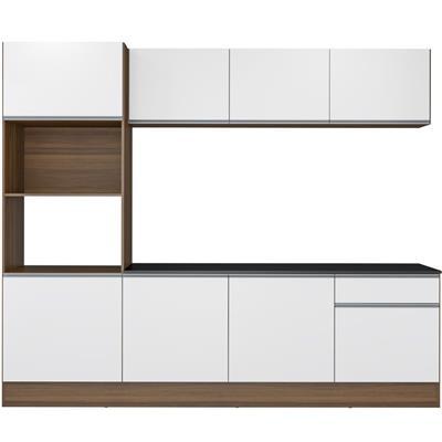 Cozinha Compacta Multimóveis Napoli 5320 MDP 8 Portas 1 Gaveta