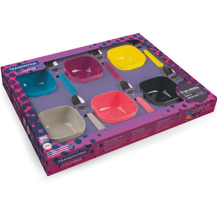 Conjunto de Sobremesa Tramontina Mix Color 25099943 12 Peças