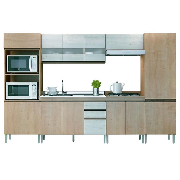 Cozinha Completa Gralar Amália 13 Portas 3 Gavetas 6 Peças