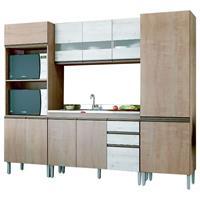 Cozinha Completa Gralar Amália 10 Portas 3 Gavetas 4 Peças