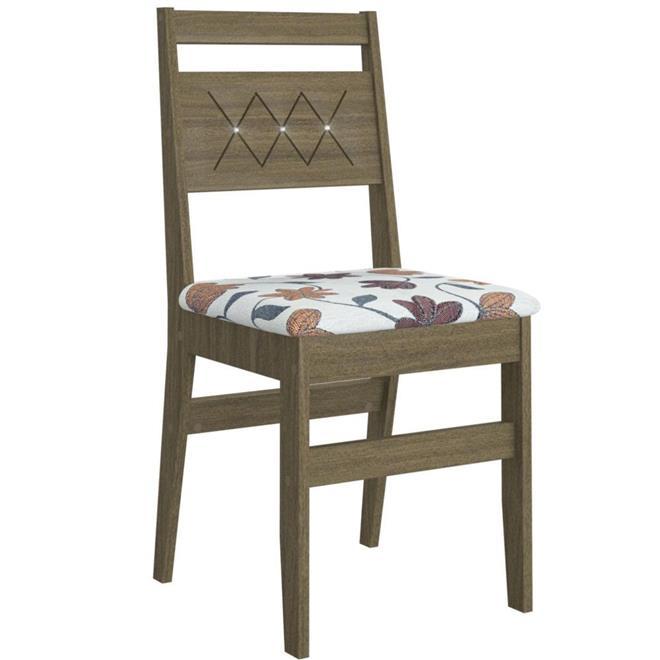 Conjunto Canção Mesa Toscana 10904 MDF com 6 Cadeiras Toscana 906 MDF