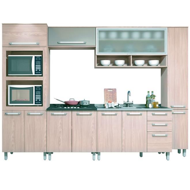 Cozinha Completa Henn Smart 12 Portas 2 Gavetas 6 Peças