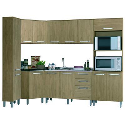 Cozinha Completa Henn Space 14 Portas 2 Gavetas 6 Peças